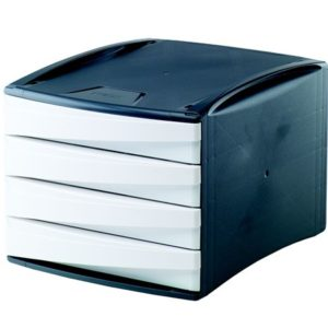 4 fiókos irattároló, műanyag, FELLOWES Green2Desk, kék