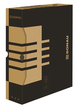 Archiváló doboz, A4, 80 mm, karton, DONAU, natúr