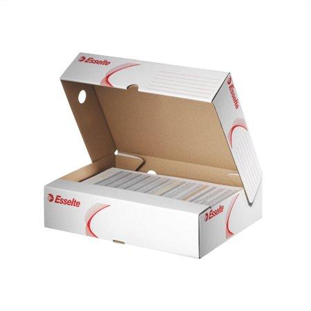 Archiváló doboz, A4, 80 mm, karton, felfelé nyíló, ESSELTE Standard, fehér