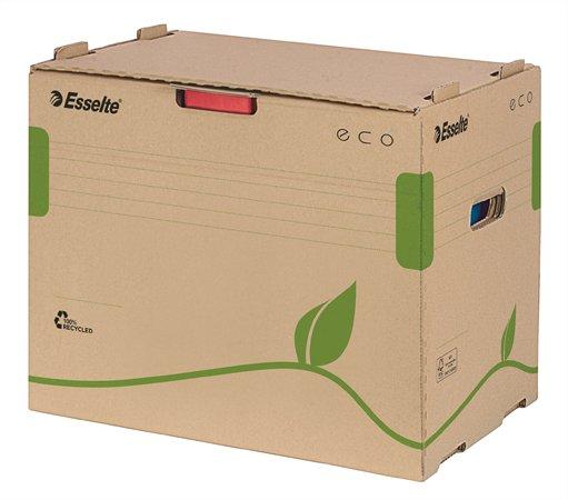 Archiváló konténer, újrahasznosított karton, iratrendezőnek, ESSELTE Eco, barna