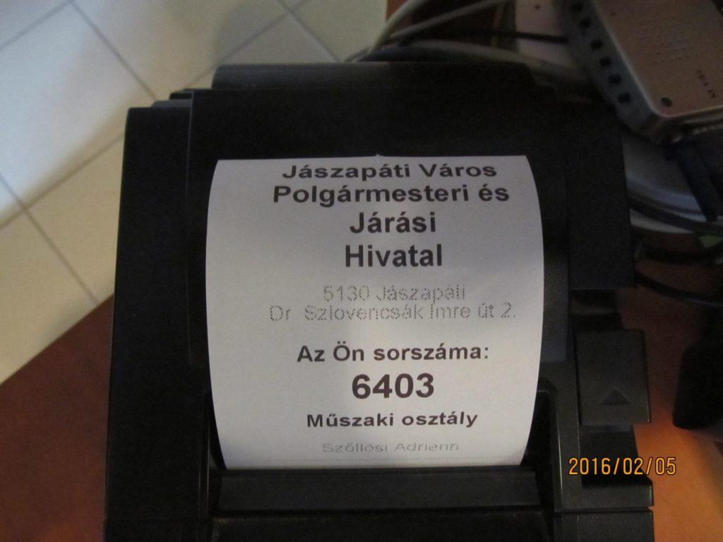 Ügyfélhívó rendszer címke nyomtató